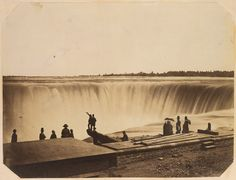 Niagara Falls, ca. 1855 Attributed to Silas A. Holmes (American, Salted paper print from glass negative; 12 x 15 in. Old Pictures, Old Photos, Vintage Photographs, Vintage Photos, Historical Maps, Vintage Wall Art, Heritage Image, Metropolitan Museum, Art History