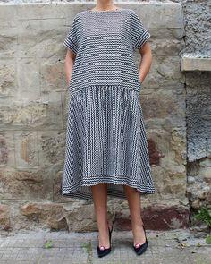 Black and white Maxi dress Boho Maxi Dress by cherryblossomsdress