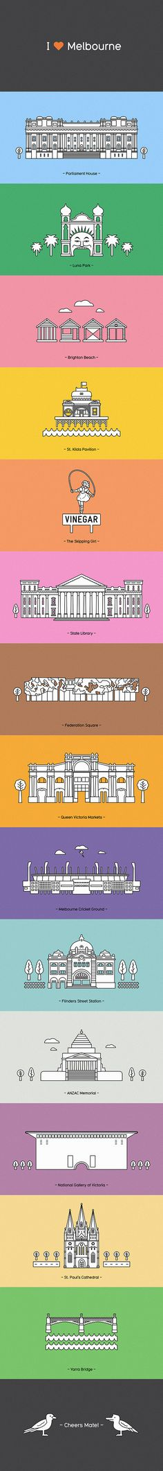 I Love Melbourne by Joao Peres, via Behance