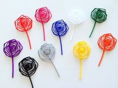 3D printed wire lapel flower designed by 3by3D.