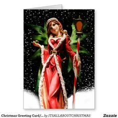 Christmas Greeting Card/Snow Fairy Greeting Card