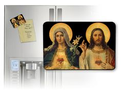 Antique Sacred & Immaculate Hearts Magnet - Catholic to the Max - Online Catholic Store $5 magnet