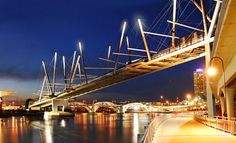 World's Largest (Solar Powered) Tensegrity Pedestrian and Cycle Bridge Opens