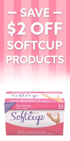 #Save $2 off #Softcup Products