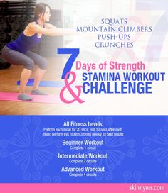 Build strength & stamina with this challenge for all fitness levels!