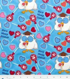 Licensed Cotton Fabric- Tootsie Pop Owl : licensed fabric: fabric: Shop | Joann.com