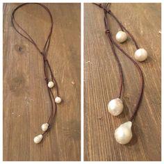Bola de fuego Lariat perla collar