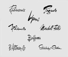 Vintage department store logos