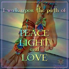 Peace light love quote