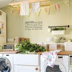 Decoração e organização de lavanderia