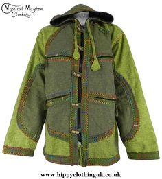 Bares Cotton Fleece Lined Hooded Hippy Jacket with Felt Trim **Small/Medium…