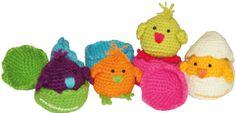 tutorial: pollitos tejdos en crochet (amigurumi) que se esconden y salen del cascarón!