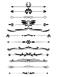 frames and borders Digital decorative vintage text divider vector clipart for personal and commercial use! These decorative border flourishes come in a variety of shapes for ultimate Café Design, Design Room, Flat Design, Design Elements, Page Borders Design, Border Design, Diy Wedding Binder, Wedding Planner, Wedding Clip