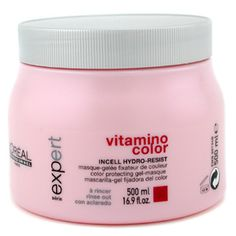 Loreal Professional Vitamino Color - Conditioner for colour treated hair, I buy this because it smells so yummy I want to eat it ...this is the only reason ha ha ♥