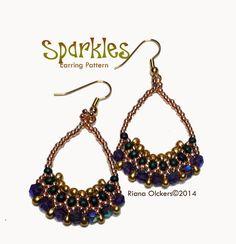 Beaded Earrings Pattern / Tutorial by RianaOlckersBeadWork on Etsy, $4.00