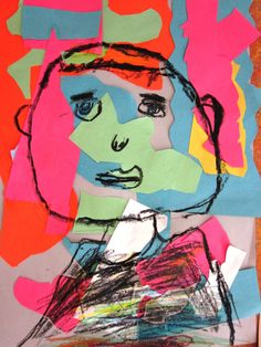 Matisse Inspired Self-Portraits in Grade One | Art Lessons For Kids