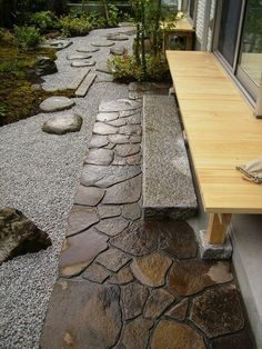 Contrasts and harmony: Japanese garden Garden Garden backyard Garden design Garden ideas Garden plants Japanese Garden Design, Garden Landscape Design, Japanese Gardens, Japanese Garden Backyard, Big Garden, Landscape Architecture, Garden Types, Garden Paths, Front Yard Walkway