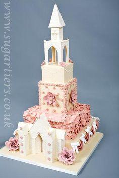 church+wedding+cake++-+Cake+by+louise+guild