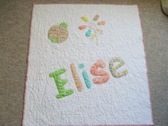 Personalized Baby Quilt Your Theme & Colors Or Made with Your Child's Clothing, Recieving Blanket, Etc Toddler Bedding Name Quilt on Etsy, $125.00