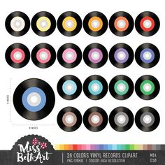Bingo Clipart, Music Theme Birthday, Detailed Image, Vinyl Records, Craft Projects, Card Making, Commercial, Scrapbooking, Clip Art