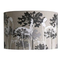 Floral Print Linen Lampshade