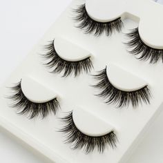 3 pairs /set False Eyelashes Messy Cross Thick Natural Fake Eye Lashes Professional Makeup Tips Bigeye Long False Eye Lashes - 3 Dimensional Marketing PTE LTD Magnetic Eyelashes, Fake Eyelashes, Eye Makeup Remover, Makeup Dupes, Professional Makeup Tips, Professionelles Make Up, Eyelash Serum, Eye Makeup Steps, Party Makeup