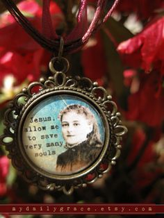 Saint Therese of Lisieux Necklace Catholic Jewelry by MyDailyGrace