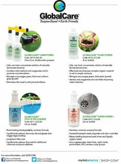 Global Care is an eco-friendly approach to lawn, plant and outdoor care!  Market #America