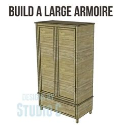 Free DIY Woodworking Plans to Build a Large Armoire An armoire is the perfect st. - Free DIY Woodworking Plans to Build a Large Armoire An armoire is the perfect storage for so many a - Woodworking School, Learn Woodworking, Woodworking Workbench, Popular Woodworking, Woodworking Techniques, Woodworking Furniture, Woodworking Projects, Woodworking Quotes, Woodworking Equipment