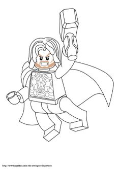 Avenger Lego Coloring Page Thorjpg