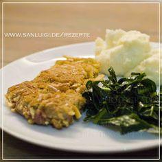 Knusprige Schnitzel mit Grissini und ein Glas gekühlten Lambrusco - eine empfehlenswerte Kombination! #schnitzel #fleisch #schwein #kalb #grissini #italienisch #kochen #braten #panieren #alternative #panade #knusprig