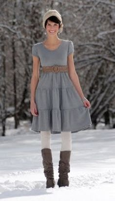 Cute for winter with some boots and leggings