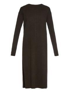 Night Out: Helmut Lang Split-hem cashmere-knit dress / Garance Doré