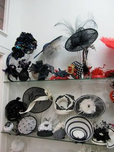 The Hat Box, Spring 2014 - . www.thehatbox.com.au   Milliners not credited They stock Australian milliners, Patricia Balmer, Ann Boyle, Kim Fletcher, Neil Grigg, Kylie Heagney, Jonathan Howard, Kathy Neumann, Suzy O'Rourke, Elizabeth R, Phillip Rhodes, Sandra Robson, Karen Valentine and Wendy White. She also stocks the exquisite hats from Stephen Jones, London