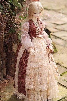 Lace Dream dress for bjd sd sd10 sd13. $120.00, via Etsy.