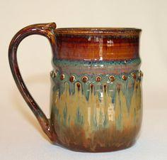 Handmade pottery mug stoneware