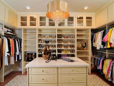 Luxurious Master Closet With Island