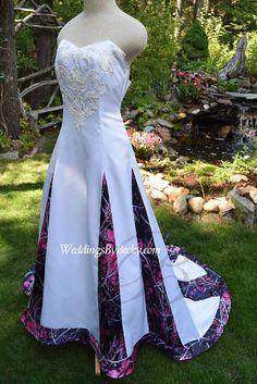 Your wedding with Muddy Girl Camo- bold and beautiful- Custom made to fit you
