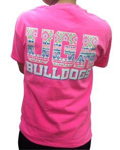 Cheer on the Bulldogs in this lively short sleeve shirt. This 100% cotton Comfort Colors tee features an aztec design across the back and on the front pocket. $19.99