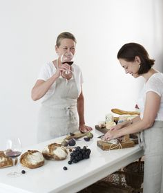 Mother/daughter owners of the The Cook's Atelier in Beaune, France | Remodelista