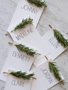 NM Wedding Magazine_Pine Place Card Holders