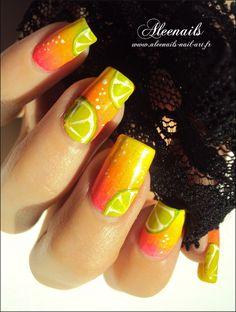 http://aleenails-nail-art.fr/cocktail-acidule-2/  #nail #nails #nailsart