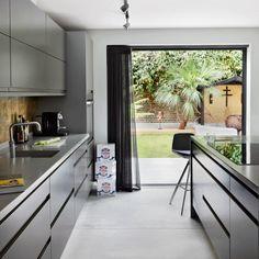 Kitchen with sleek modern cupboards
