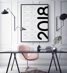 Looking for cool 2018 calendars and planners before January hits? Check out this list of 36 - filled with different types of calendars and planners. #MinimalistBedroom