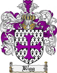 Rigg Coat of Arms Rigg Family Crest Instant Download - for sale, $7.99 at Scubbly