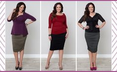 Loving the new Plus Size Riley Ruched Skirt.  The fabric is soft and comfy and the ruching is FLATTERING.  Dare you to try it...  ;)  #KiyonnaPlusYou  #Kiyonna  #PlusSize