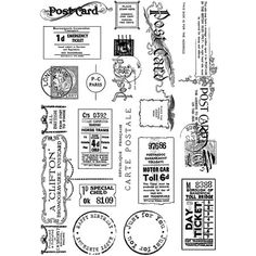 'Vintage Tickets and Ephemera' Art Rubber Stamps, x - Crafty Individuals from Crafty Individuals UK Kino Theater, Diy Scrapbook, Scrapbooking, Ticket, Vintage Stamps, Journal Cards, Journal Ideas, App Store, Stickers