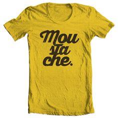 Moustache - typography - tshirt - design www.eusou.jp