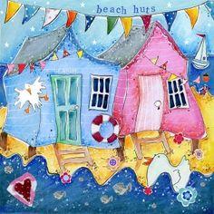 Beach Huts - Artistic Britain - Bringing British Art Home Susie Grindey