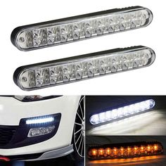 2Pcs/Pair Car-styling LED Daylight DC12V LED Auto Daylight Running Light DRL with Turn Lights 40W Lamp For Car SUV Truck Trailer